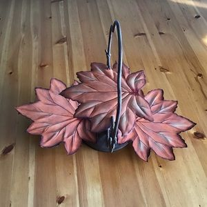 🍁FALL RUSTIC METAL 3 TIER DECORATIVE TRAY